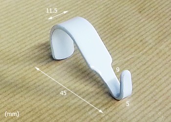 Moulding Hook Small, Dimensions