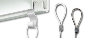 S-hook Anchor for looped Perlon Cord, Steel Cable